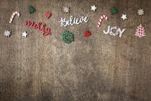 Merry, Believe, Joy border