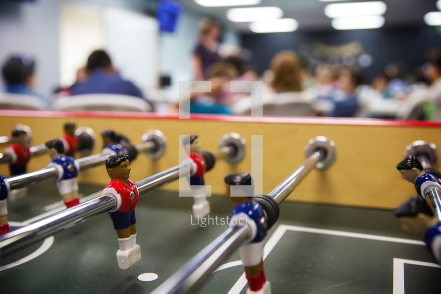foosball table and seminar