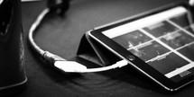 an iPad charging