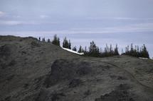 hiking on a mountain