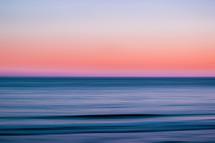 pink sky over the ocean