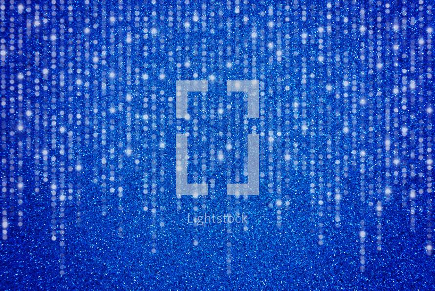 Streamers on blue Glitter Background