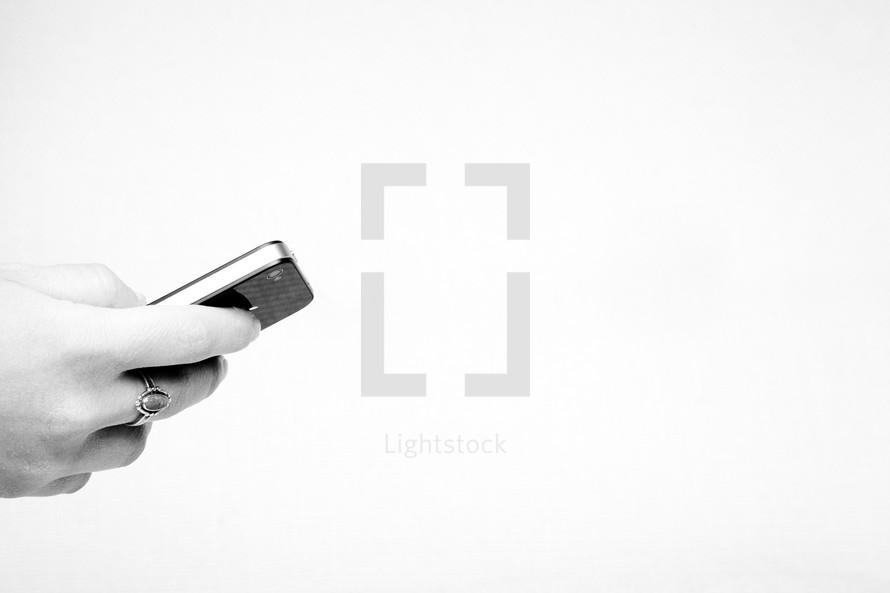 girl holding a cellphone