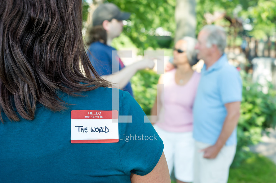 The World name tag