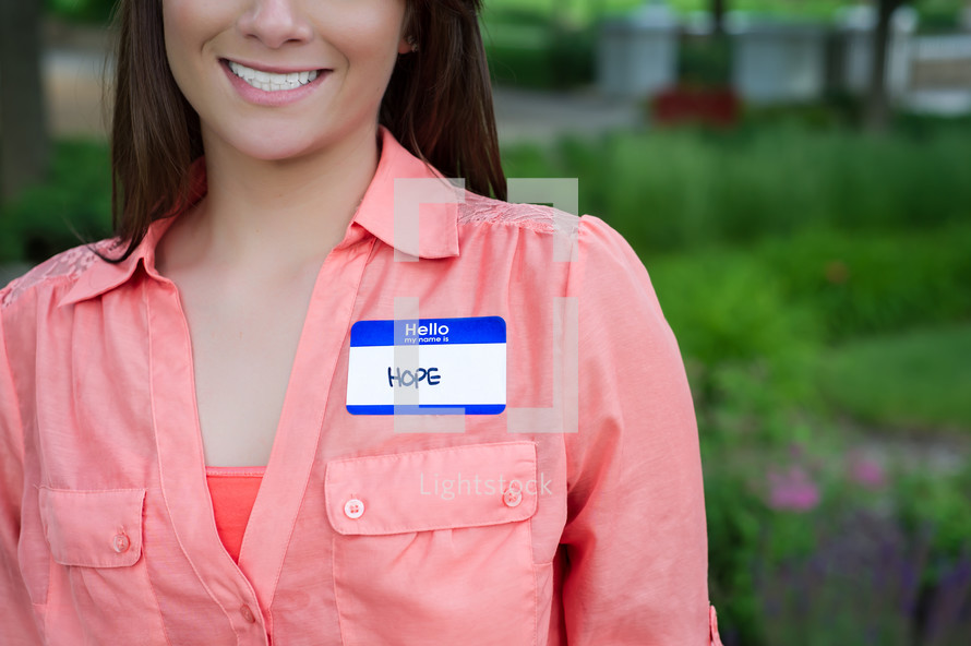 hope name tag