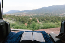 open Bible and tailgating