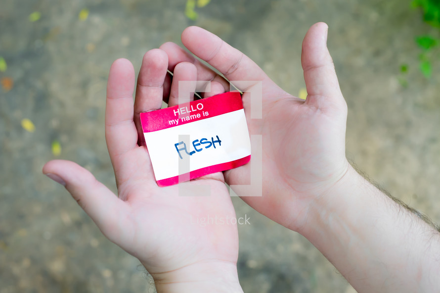 flesh name tag