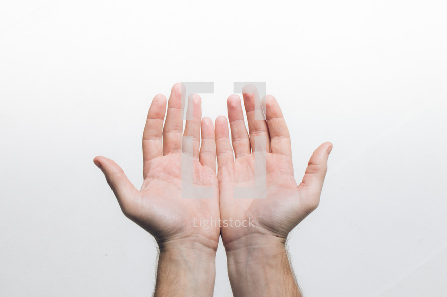 hands with palms open