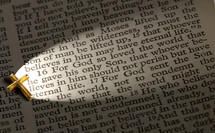 John 3:16 lit by the light of the cross