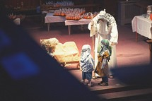 Christmas Pageant, Christmas, teen, Joseph, boy, costume, worship service, live nativity scene, children