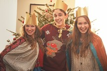 youth in costume as the three kings