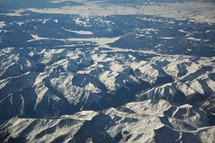 Snow-covered moitanins ridges.