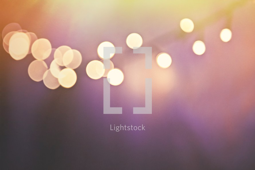 bokeh white lights