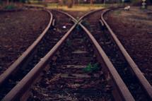 where the train tracks split