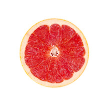 Slice of grapefruit.
