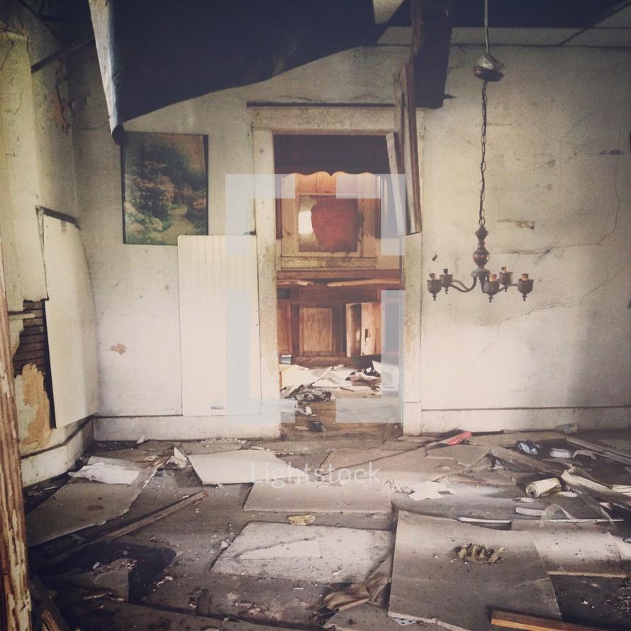 Inside abandoned house