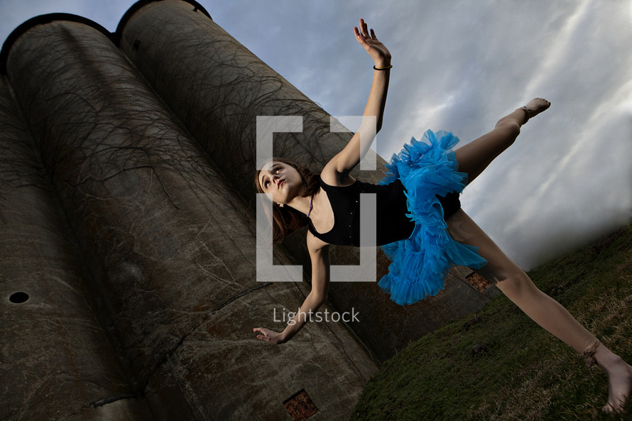 Ballerina outside