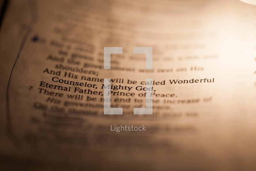 Underlined Bible scripture