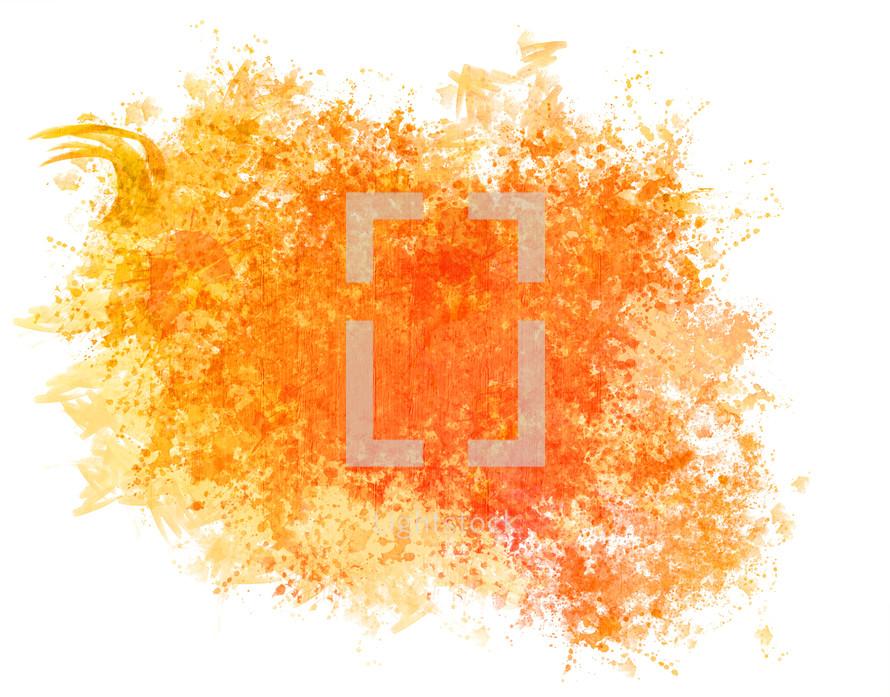 splotch of orange watercolor