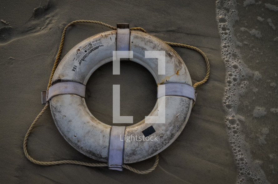 life ring on a beach