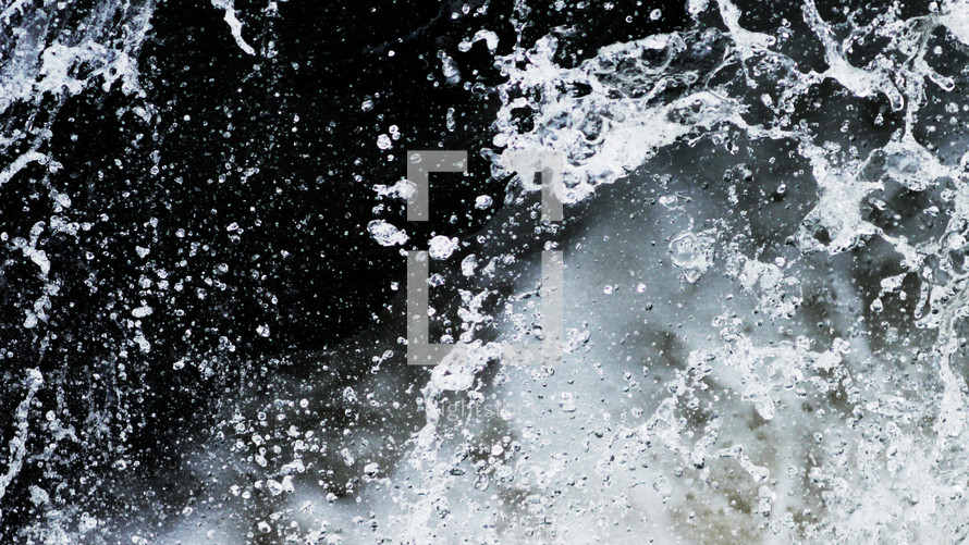 Rushing water.