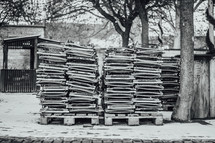 stacks of chairs