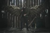 angel in a barn