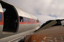 Dilapidated plane.