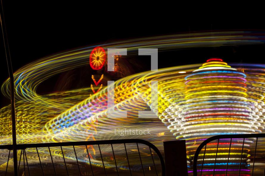 amusement park lights bokeh