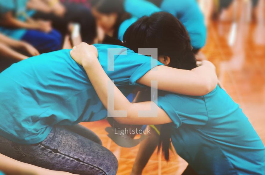 hugs on the floor