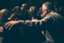 prayer and worship at a worship service