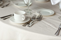 place settings on a table at a wedding reception