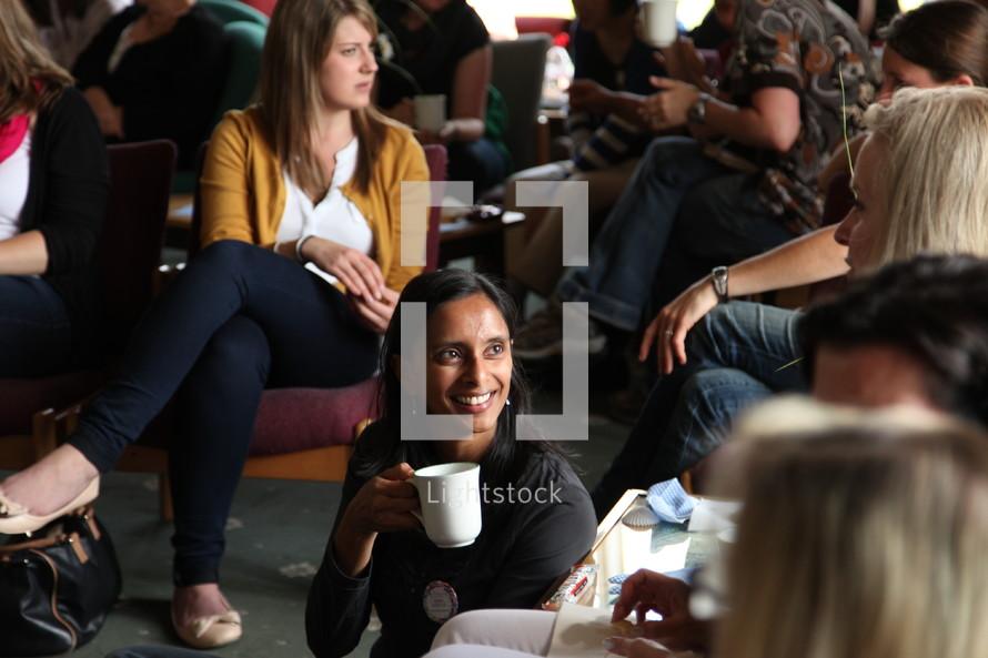 people talking before a seminar