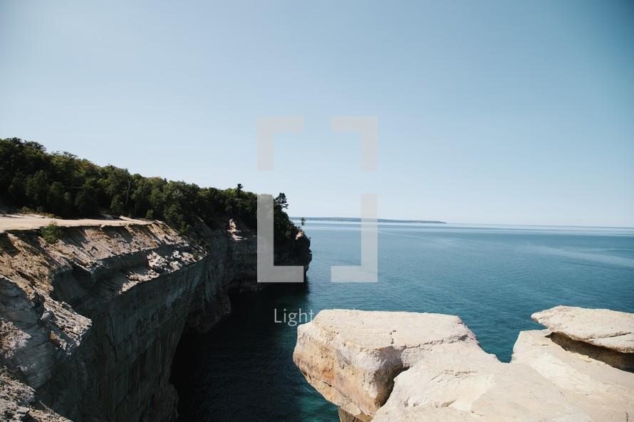 sea cliffs along a shoreline