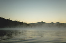 Early morning misty lake | Peace | Tranquil | Forest and Mountains | Calm Water | Still