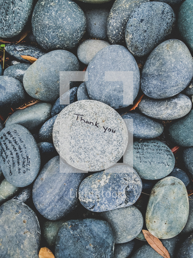 stones with writing on them