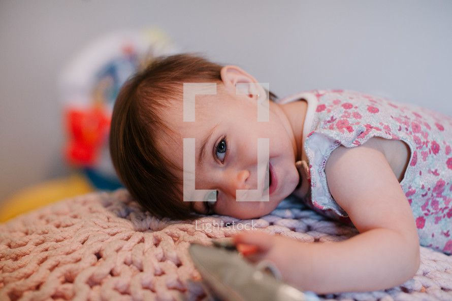 smiling toddler girl