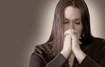 woman in prayer to God