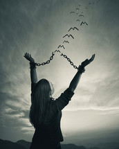 breaking the chains and flying free