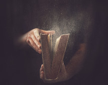 light from opening a Bible - enlightenment