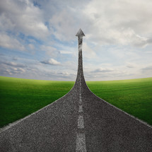 A road pointing up - road to heaven
