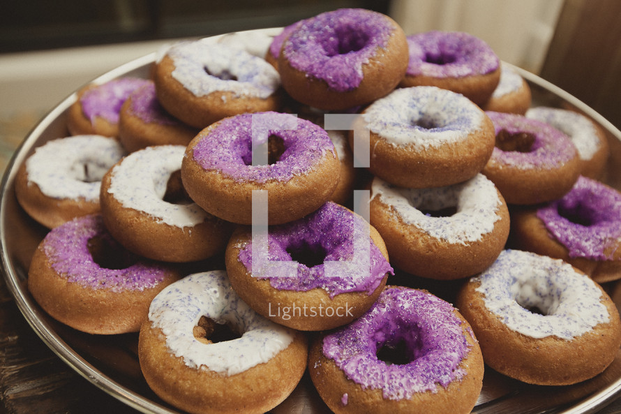 A tray of donuts