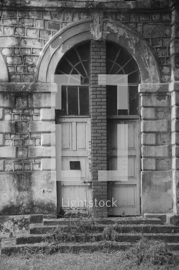 Doors in old derelict building