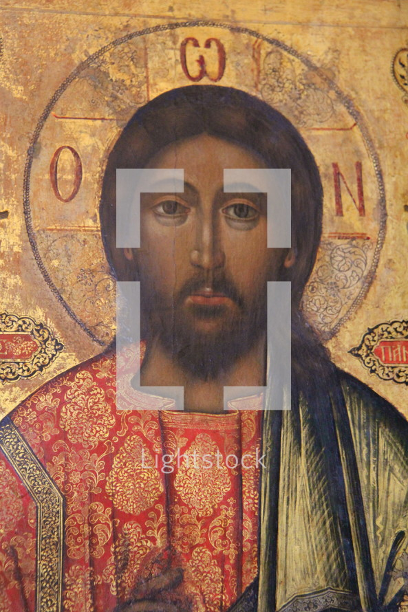 Painting of Jesus Christ in an Orthodox Church