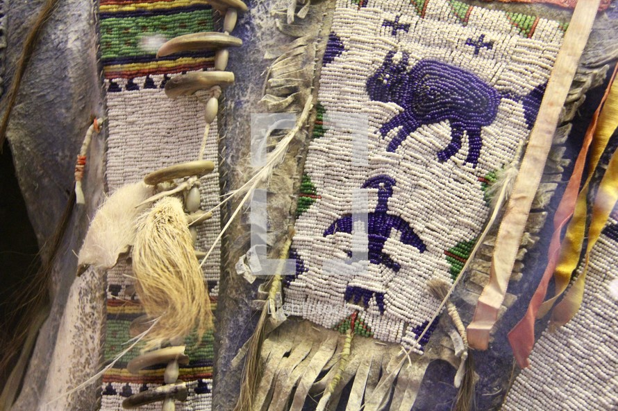 indigenous woven tapestries and beads