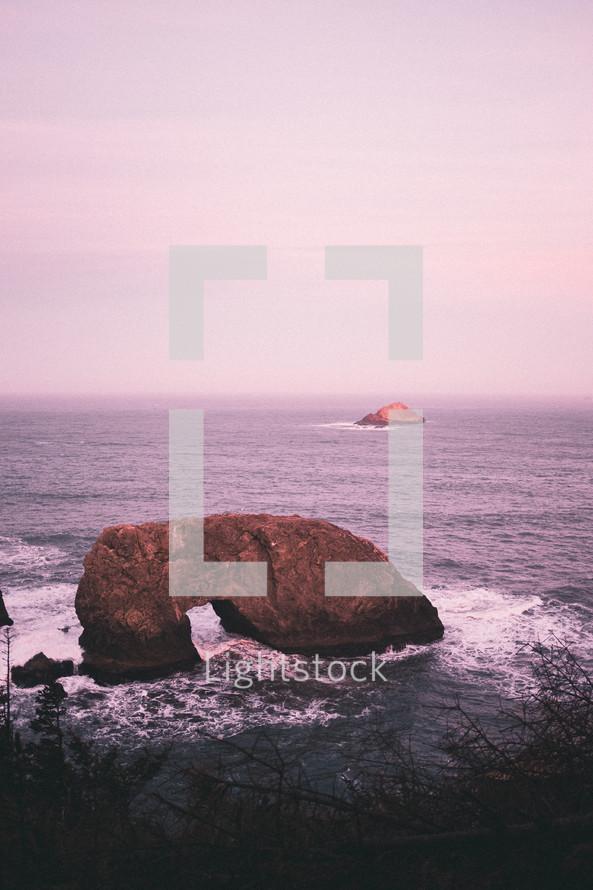 rock arch in the ocean