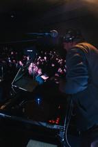 a dj at a concert