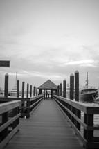 dock at a boat marina