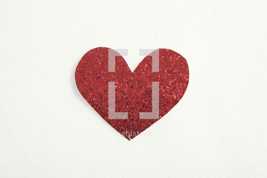 Red heart cutout.