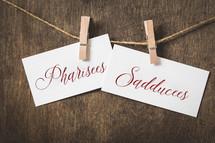 Pharisees Sadducees